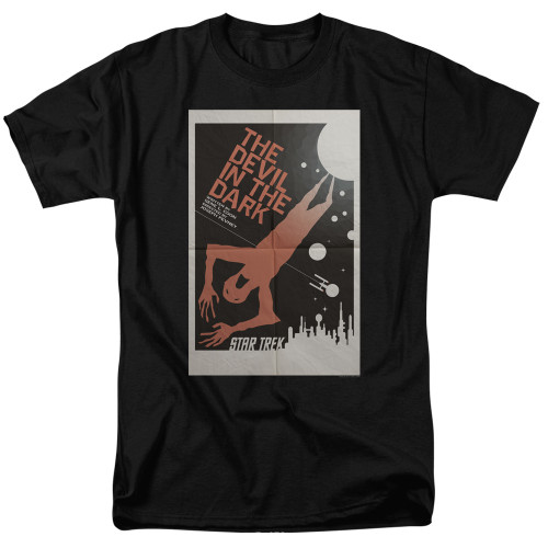 Image for Star Trek Juan Ortiz Episode Poster T-Shirt - Ep. 25 the Devil in the Dark on Black