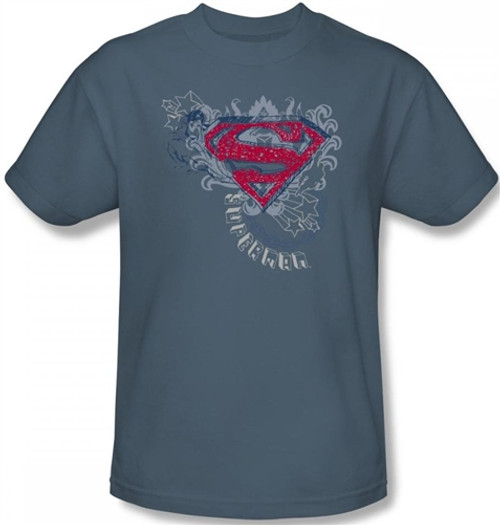 Image Closeup for Superman T-Shirt - Stars and Chains Logo