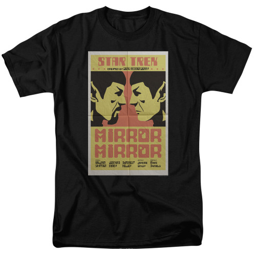 image for Star Trek Juan Ortiz Episode Poster T-Shirt - Ep. 33 Mirror Mirror on Black