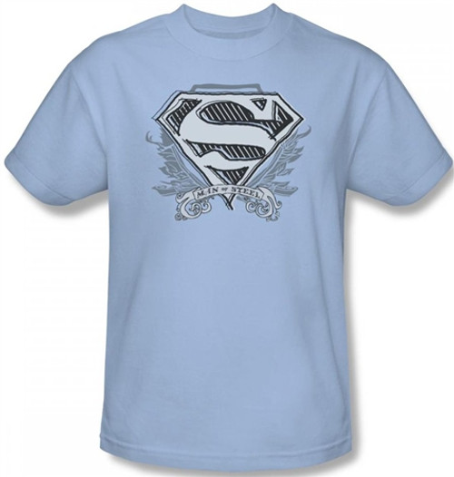 Image Closeup for Superman T-Shirt - Sketchy Crest Shield Logo
