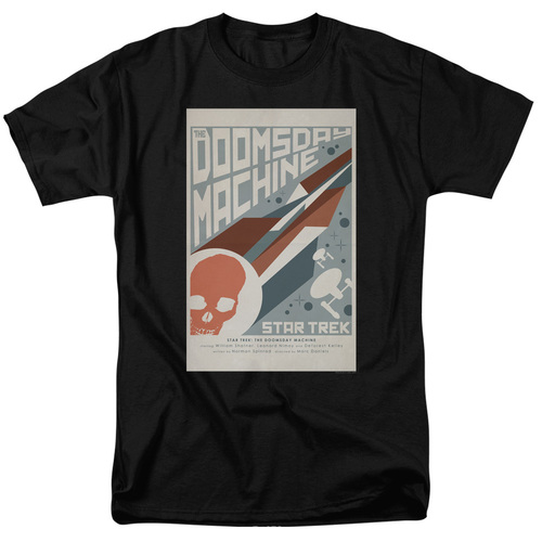 Image for Star Trek Juan Ortiz Episode Poster T-Shirt - Ep. 35 the Doomsday Machine on Black