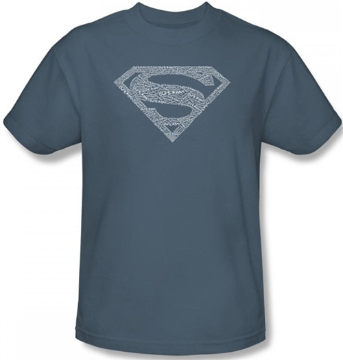 Image Closeup for Superman T-Shirt - Type Shield Logo