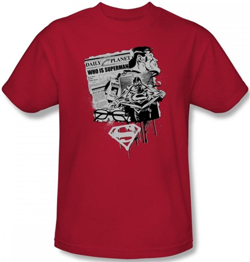 Image Closeup for Superman T-Shirt - Identity