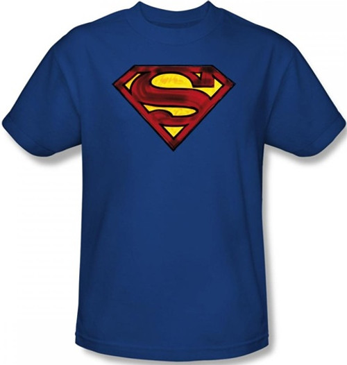 Image Closeup for Superman T-Shirt - Charcoal Shield Logo
