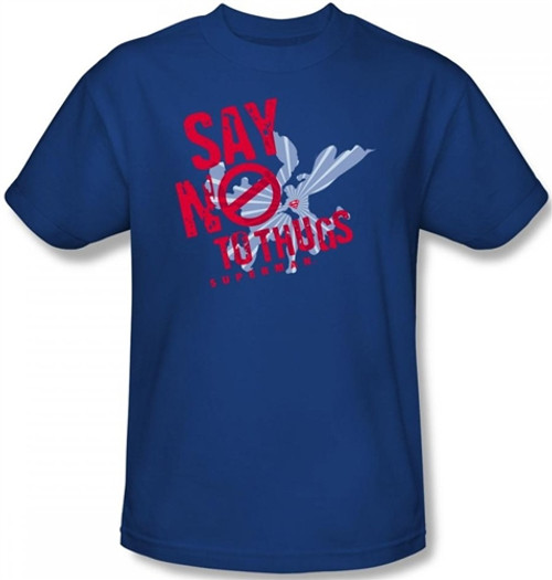 Image Closeup for Superman T-Shirt - Say no to Thugs