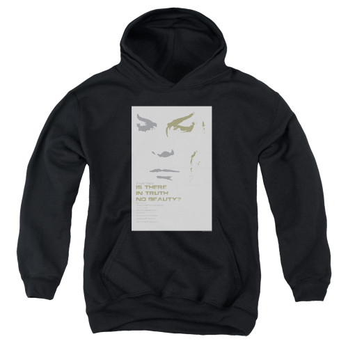 Image for Star Trek Juan Ortiz Episode Poster Youth Hoodie - Ep. 60 Is There In Truth No Beauty on Black