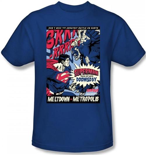 Image Closeup for Superman T-Shirt - Meltdown