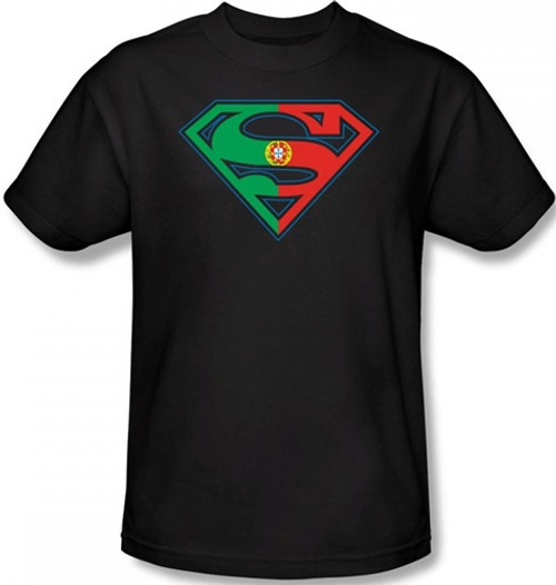 Image Closeup for Superman T-Shirt - Portugese Flag Shield