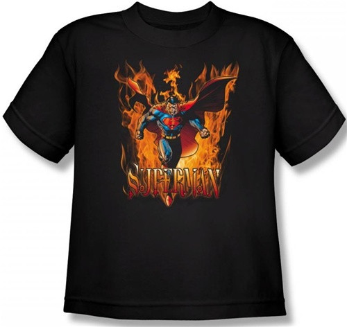 Image for Superman Youth T-Shirt - Through the Fire