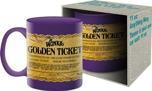 Image for Willy Wonka Golden Ticket Coffee Mug