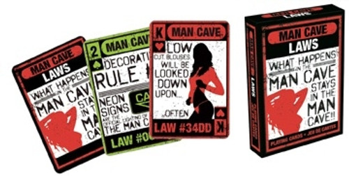 Image for Man Cave Laws Playing Cards