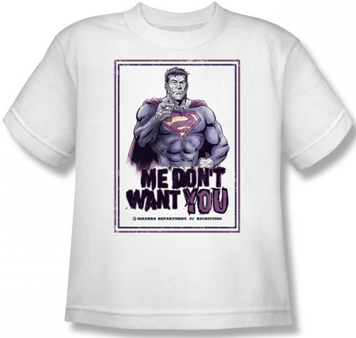 Image for Superman Kids T-Shirt - Bizarro Me Don't Want You