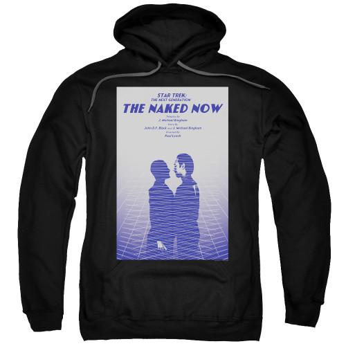 Image for Star Trek the Next Generation Juan Ortiz Episode Poster Hoodie - Season 1 Ep. 3 the Naked Now on Black