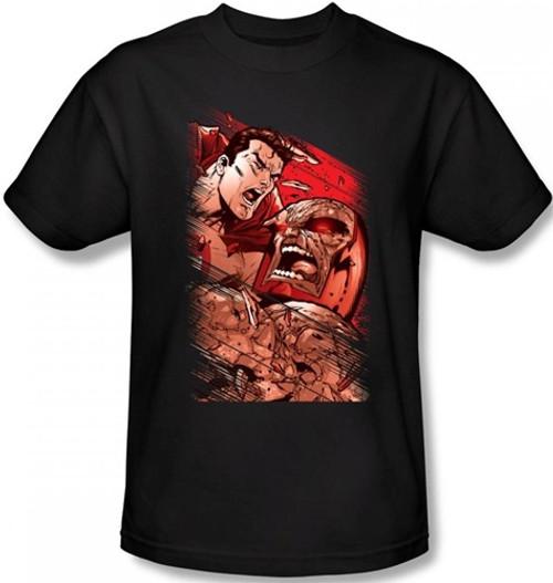 Image Closeup for Superman T-Shirt - Supes vs. Darkseid