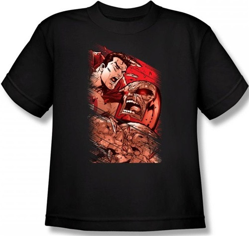 Image for Superman Youth T-Shirt - Supes vs. Darkseid