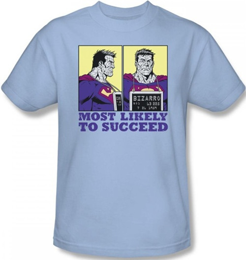 Image Closeup for Superman T-Shirt - Bizarro Most Likely to Succeed