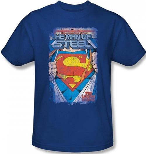 Image Closeup for Superman T-Shirt - Legendary