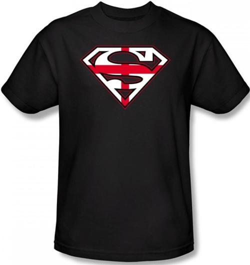 Image Closeup for Superman T-Shirt - English Flag Shield