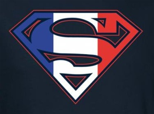 Image for Superman T-Shirt - French Flag Shield