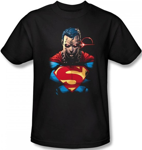 Image Closeup for Superman T-Shirt - Displeased