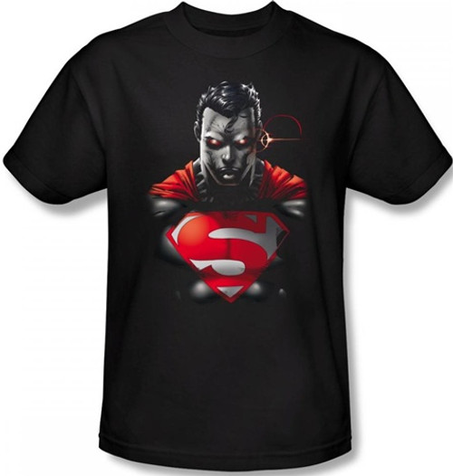 Image Closeup for Superman T-Shirt - Heat Vision Charged
