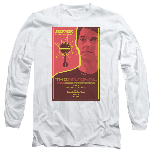 Image for Star Trek the Next Generation Juan Ortiz Episode Poster Long Sleeve Shirt - Season 1 Ep. 21 the Arsenal of Freedom
