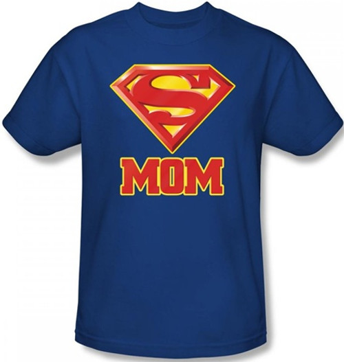 Image Closeup for Superman T-Shirt - Super Mom Logo