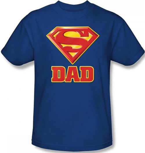 Image Closeup for Superman T-Shirt - Super Dad Logo