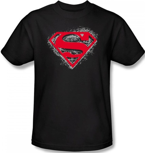 Image Closeup for Superman T-Shirt - Hardcore Noir Shield Logo