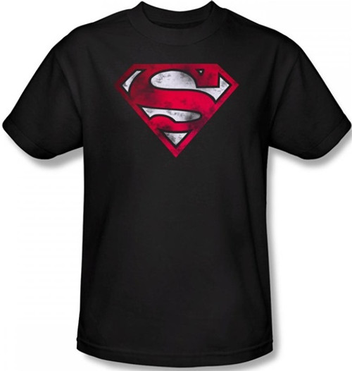 Image Closeup for Superman T-Shirt - War Torn Shield Logo