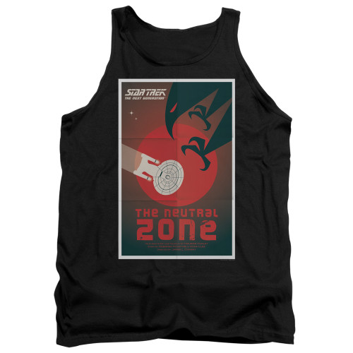 Image for Star Trek the Next Generation Juan Ortiz Episode Poster Tank Top - Season 1 Ep. 26 the Neutral Zone on Black