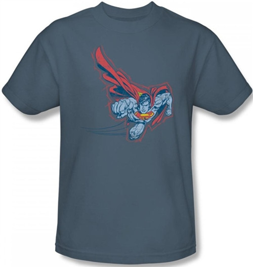Image Closeup for Superman T-Shirt - Scribble & Soar