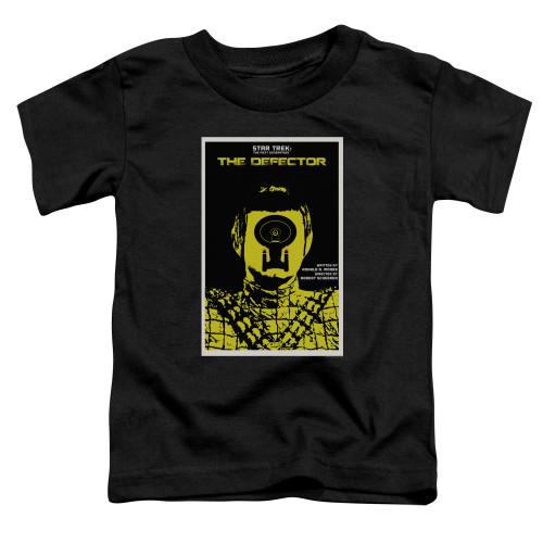 Image for Star Trek the Next Generation Juan Ortiz Episode Poster Toddler T-Shirt - Season 3 Ep. 10 the Defector on Black