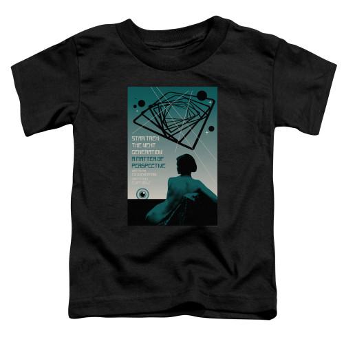 Image for Star Trek the Next Generation Juan Ortiz Episode Poster Toddler T-Shirt - Season 3 Ep. 14 A Matter of Perspective on Black