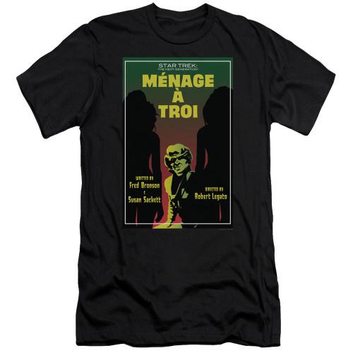 Image for Star Trek the Next Generation Juan Ortiz Episode Poster Premium Canvas Premium Shirt - Season 3 Ep. 24 Menage a Troi on Black