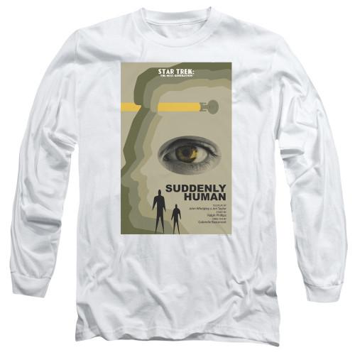 Image for Star Trek the Next Generation Juan Ortiz Episode Poster Long Sleeve Shirt - Season 4 Ep. 4 Suddenly Human