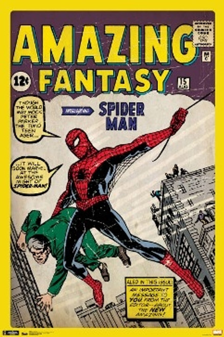 Spider-Man Poster - Amazing Fantasy Cover