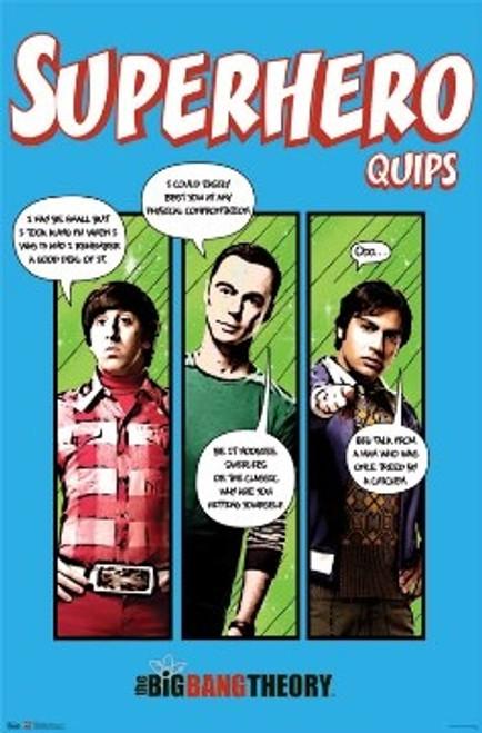 Image for Big Bang Theory Poster - Superhero Quips