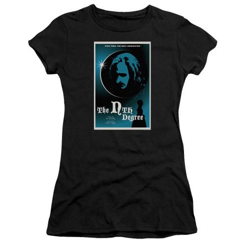 Image for Star Trek the Next Generation Juan Ortiz Episode Poster Juniors T-Shirt - Season 4 Ep, 19 the Nth Degree on Black