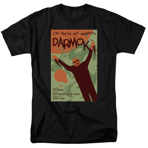 Image for Star Trek the Next Generation Juan Ortiz Episode Poster T-Shirt - Season 5 Ep. 2 Darmok on Black