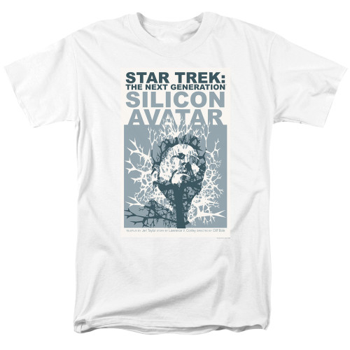 Image for Star Trek the Next Generation Juan Ortiz Episode Poster T-Shirt - Season 5 Ep. 4 Silicon Avatar