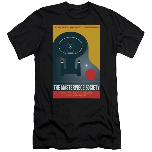 Image for Star Trek the Next Generation Juan Ortiz Episode Poster Premium Canvas Premium Shirt - Season 5 Ep. 13 the Masterpiece Society on Black