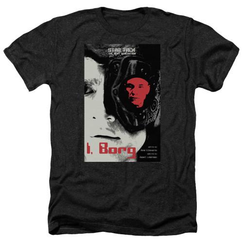 Image for Star Trek the Next Generation Juan Ortiz Episode Poster Heather T-Shirt - Season 5 Ep. 23 I, Borg on Black