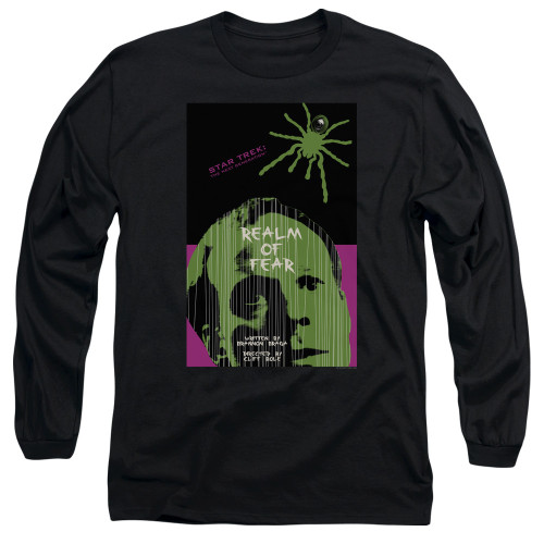 Image for Star Trek the Next Generation Juan Ortiz Episode Poster Long Sleeve Shirt - Season 6 Ep. 2 Realm of Fear on Black