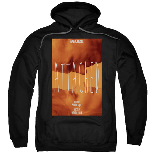 Image for Star Trek the Next Generation Juan Ortiz Episode Poster Hoodie - Season 7 Ep. 8 Attached on Black