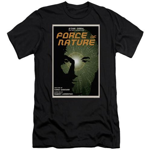 Image for Star Trek the Next Generation Juan Ortiz Episode Poster Premium Canvas Premium Shirt - Season 7 Ep. 9 Force of Nature on Black