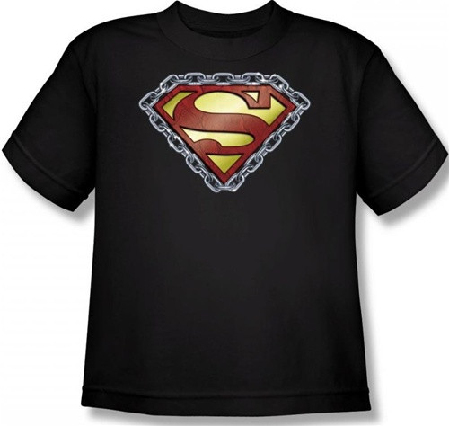 Image for Superman Youth T-Shirt - Chained Shield Logo