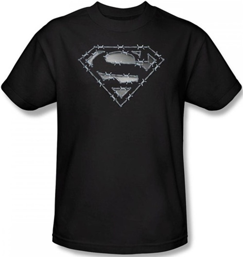 Image Closeup for Superman T-Shirt - Barbed Wire Logo