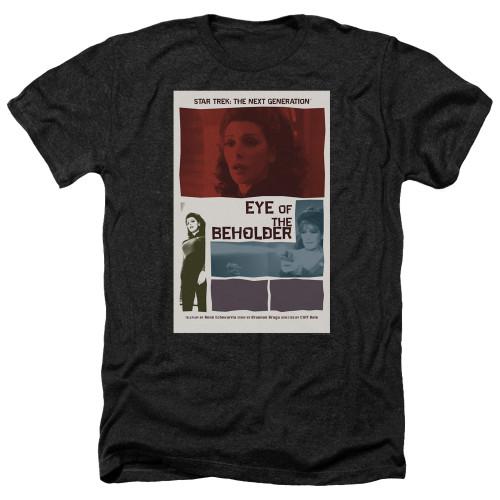 Image for Star Trek the Next Generation Juan Ortiz Episode Poster Heather T-Shirt - Season 7 Ep. 18 Eye of the Beholder on Black