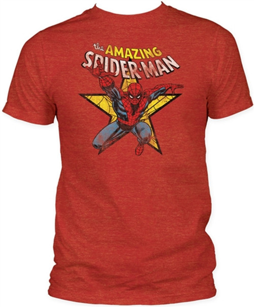 Image Closeup for Spider-Man T-Shirt - Star